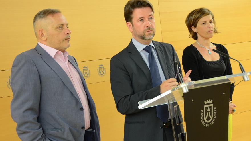 El presidente en funciones de la Corporación insular, Carlos Alonso, presentó la nueva entrega del Plan de Empleo.