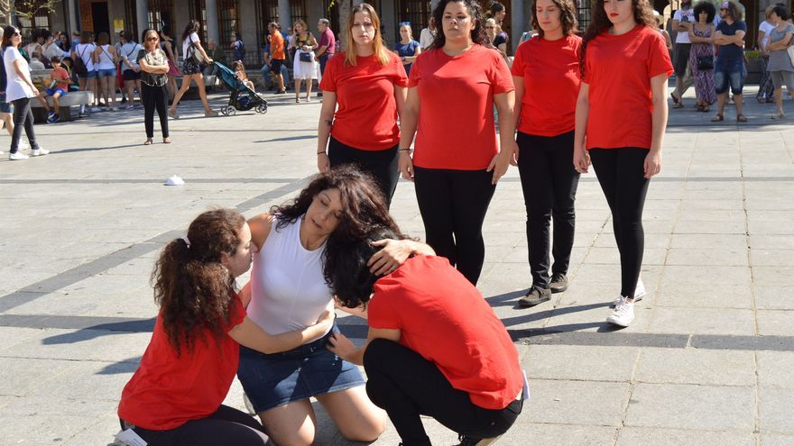 Performance contra la explotación sexual en Toledo