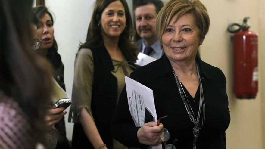 La presidenta del Pacto de Toledo, Celia Villalobos
