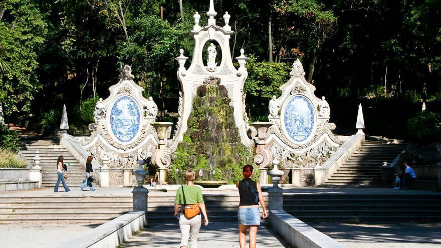 Fuente Monumental del Jardín Botánico de Coímbra.