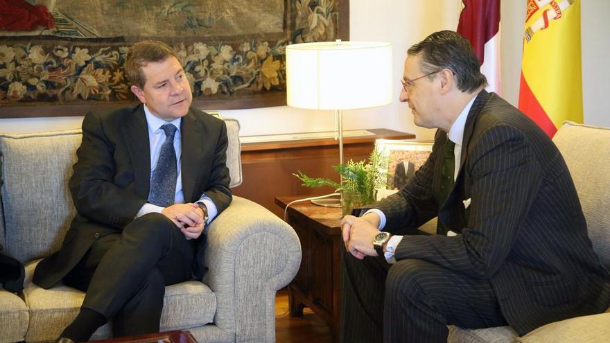 Pau Roca recibió el apoyo del presidente de Castilla-La Mancha, Emiliano García-Page