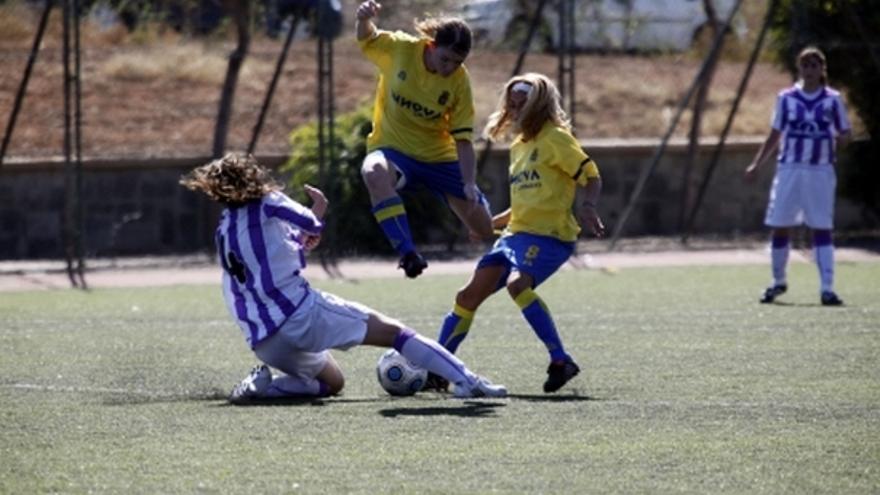Del partido de la UD Las Palmas y Real Valladolid de la Liga femenina #1