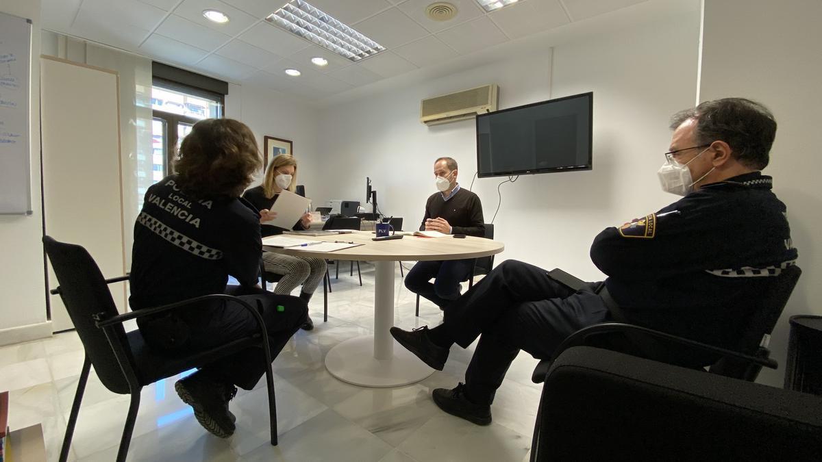 Grupo GAMA de la Policía Local de Valencia.