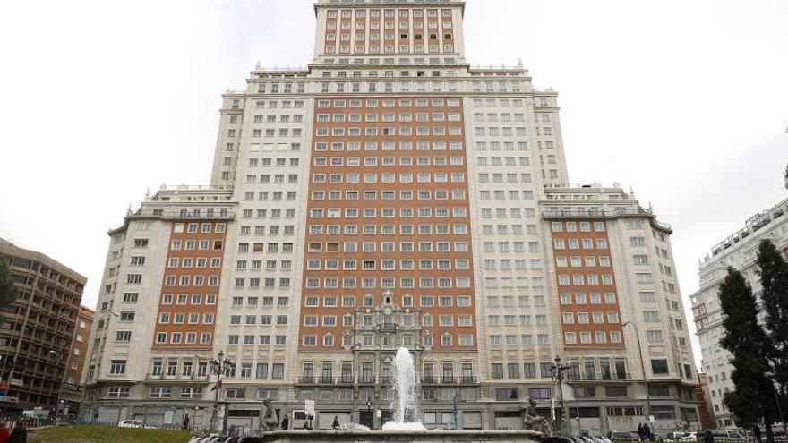 Vista del Edificio España, en Madrid.