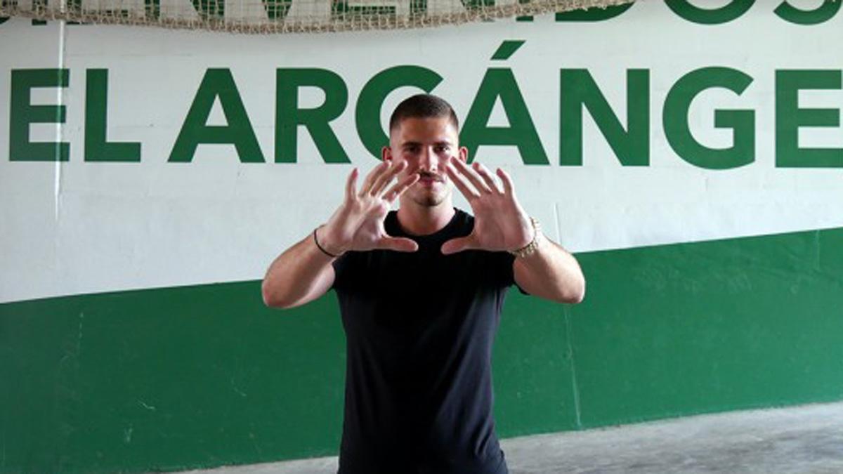 Javi Romero, tras su fichaje por el Córdoba en 2020