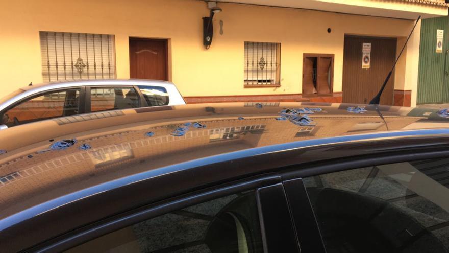 Estado en el que ha aparecido el vehículo del portavoz de IU Fuengirola