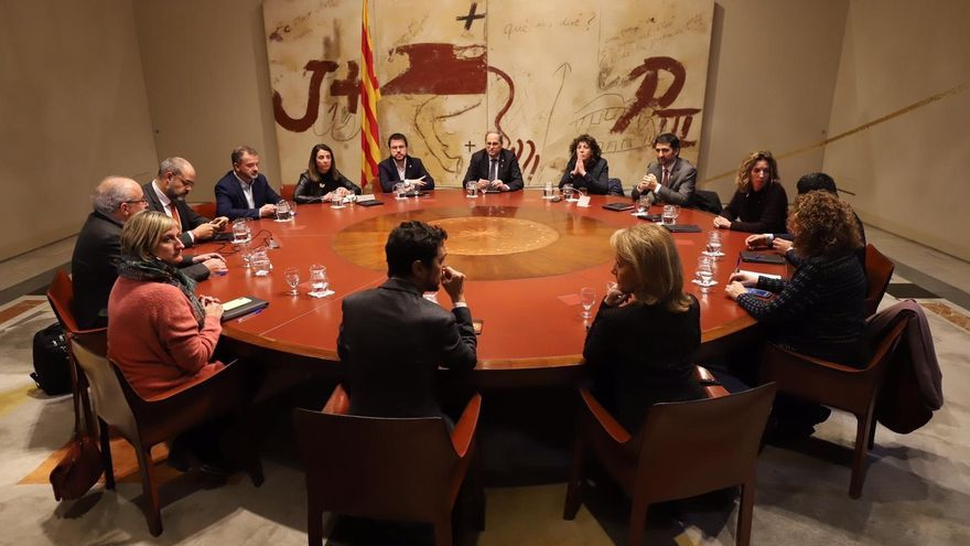 El Consell Executiu de la Generalitat, en una de sus reuniones