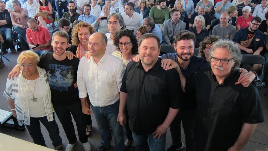 Los miembros de ERC en Sabadell