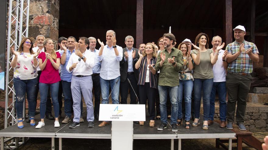 Líderes de CC en Tenerife, en la asamblea de este sábado en El Sauzal