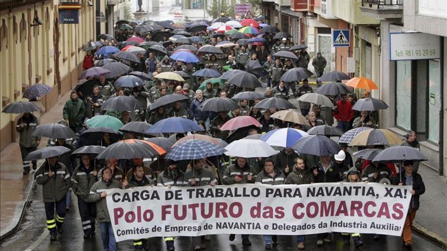 Más de un millar de trabajadores de Navantia reclaman en A Coruña más carga de trabajo