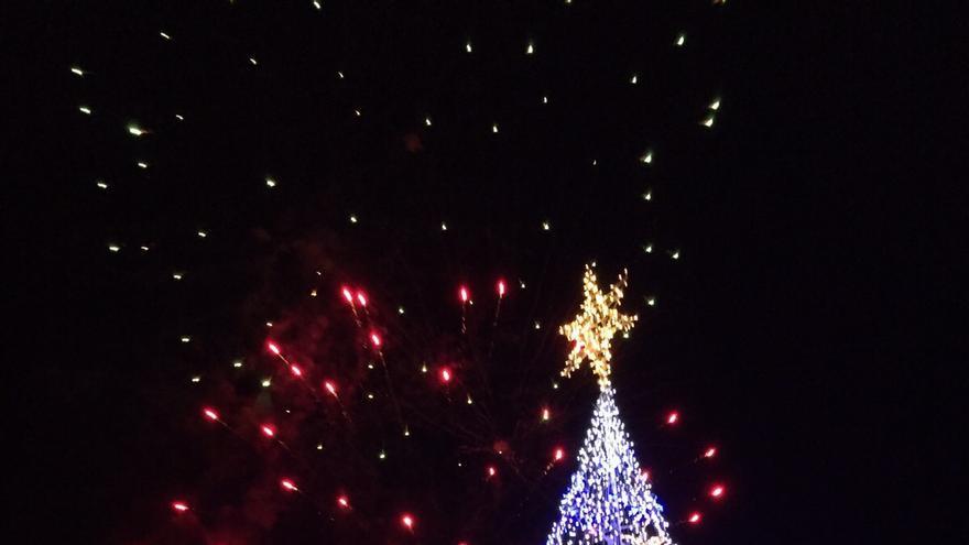 En la imagen, alumbrado navideño de Breña Alta.