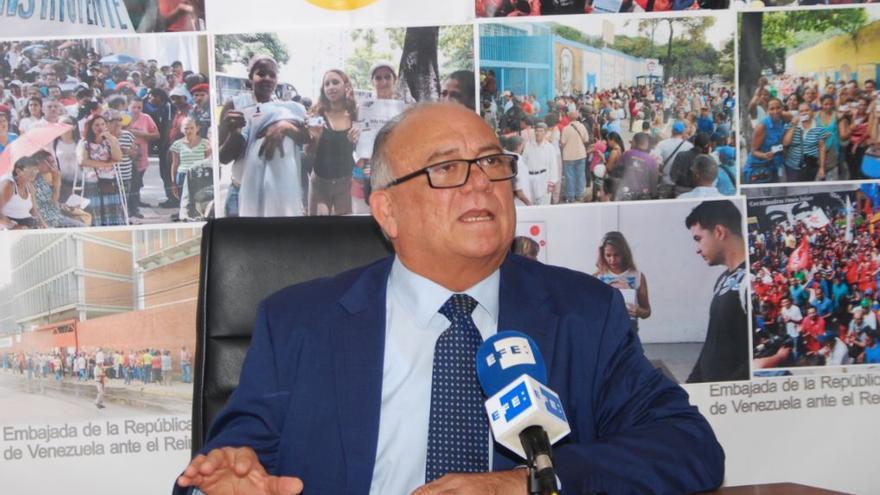 Mario Isea Bohórquez, embajador de la República Bolivariana de Venezuela en España.