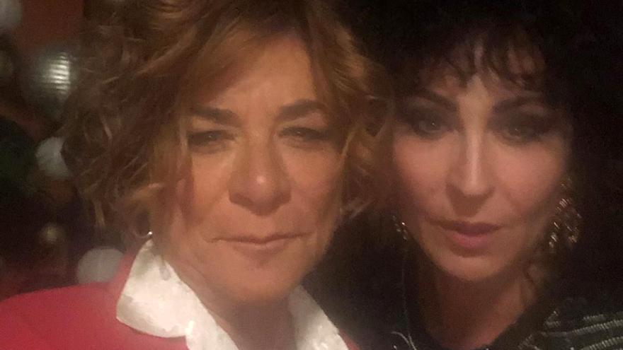 Sonia Martínez y Ana Milán, en el rodaje de 'Veneno'
