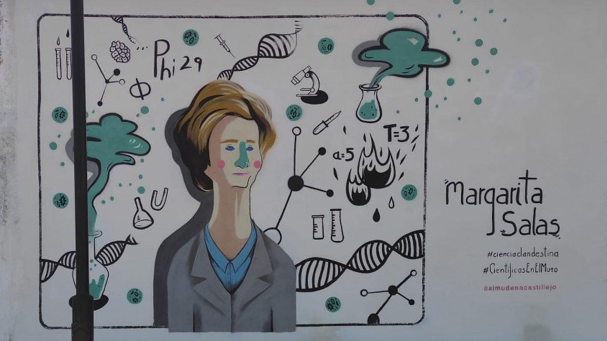 Mural de Margarita Salas.