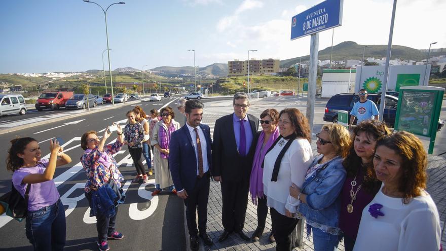 Inauguración de la Avenida 8 de Marzo en Las Palmas de Gran Canaria.