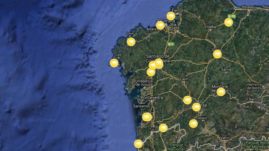 'Elefantes blancos' repartidos por Galicia