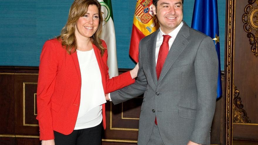 """Moreno exige a Díaz que """"deje de competir permanentemente con Pedro Sánchez"""" y ponga sus """"cinco sentidos"""" en Andalucía"""