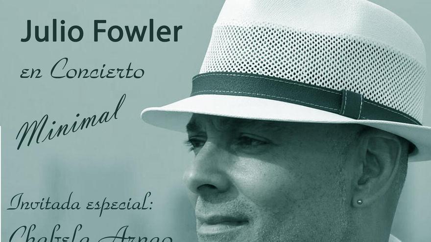 Cartel del concierto del cantante y compositor cubano Julio Fowler en El Paso.