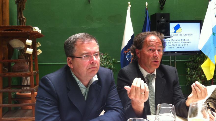 Carmelo Afonso y Javier Morales, candidatos de CC en la lista de Coalición por Europa.