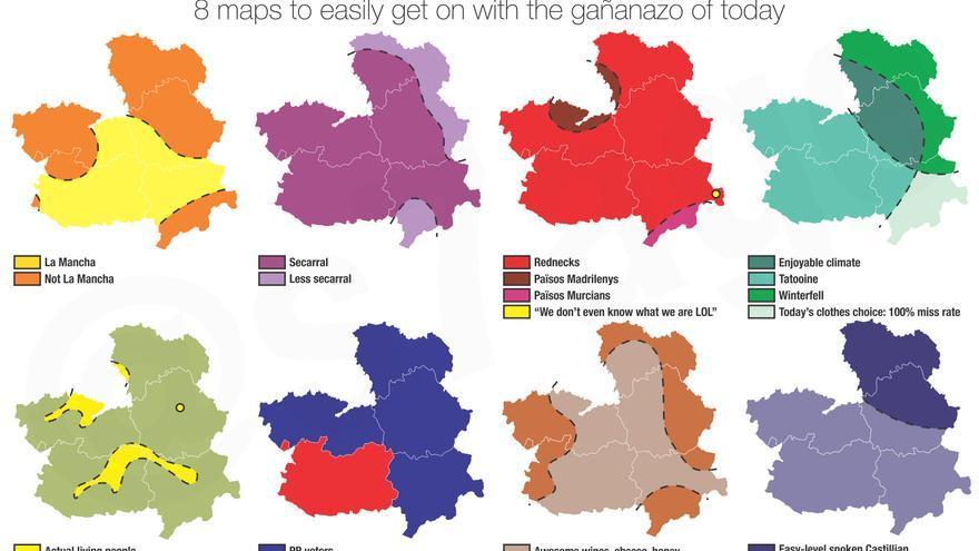 'Formas de dividir Castilla-La Mancha', serie cómica de @s7age