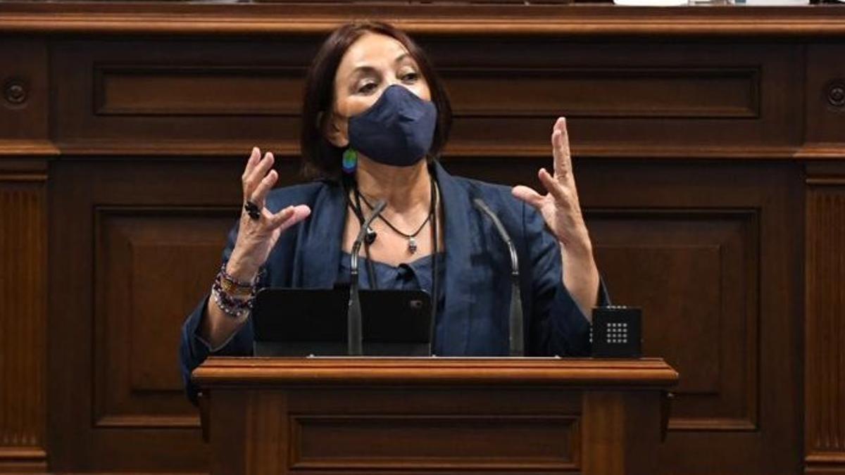 María del Río, presidenta del Grupo Parlamentario de Sí Podemos Canarias.