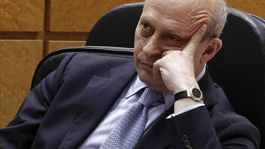 El ministro de Educación, José Ignacio Wert, en el Senado. / Efe