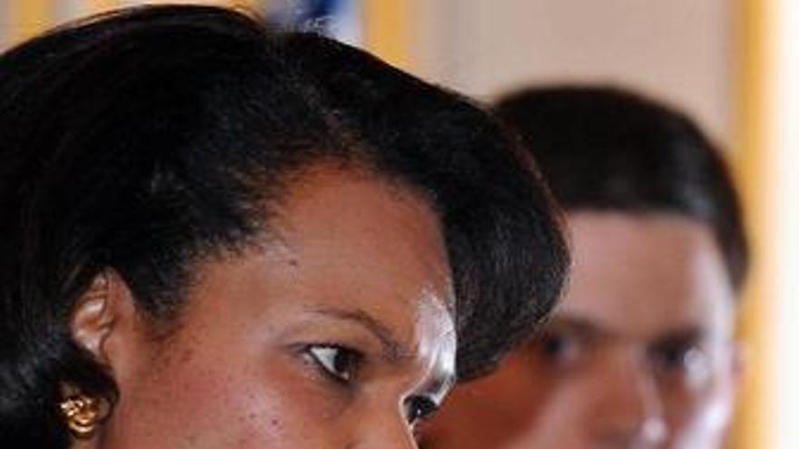 Secretaria estado norteamericana condoleeza rice David Miliband ministro exterio