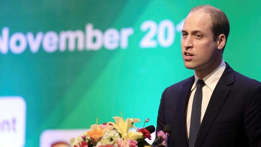 El príncipe Guillermo reclama más esfuerzo contra el contrabando de animales