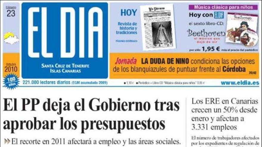 De las portadas del día (23/10/2010) #4