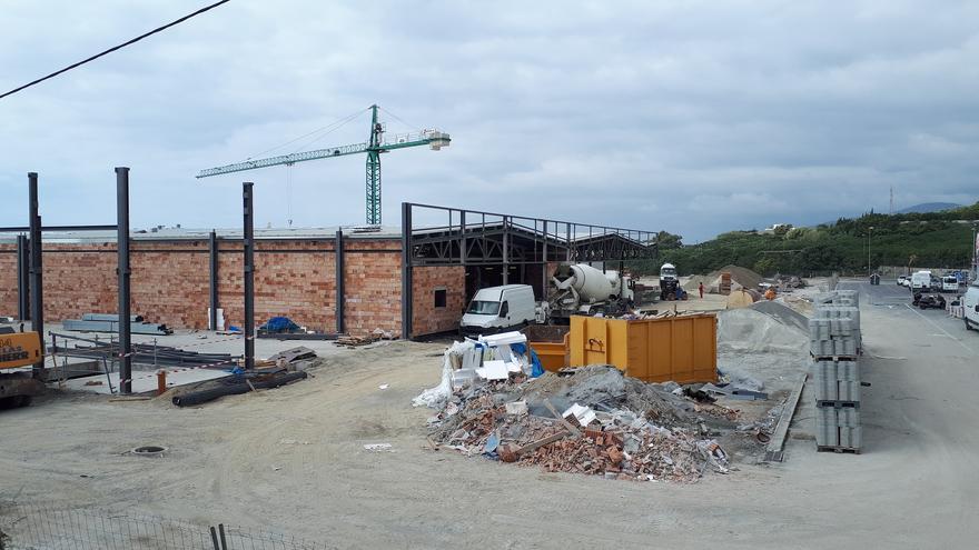 Las obras cuestionadas de Motril, a comienzos de octubre | N.C.