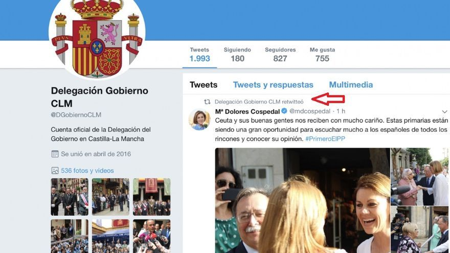 El tuit ya ha sido borrado de la cuenta de la Delegación del Gobierno