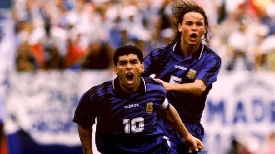 Maradona en el mundial de USA 94.