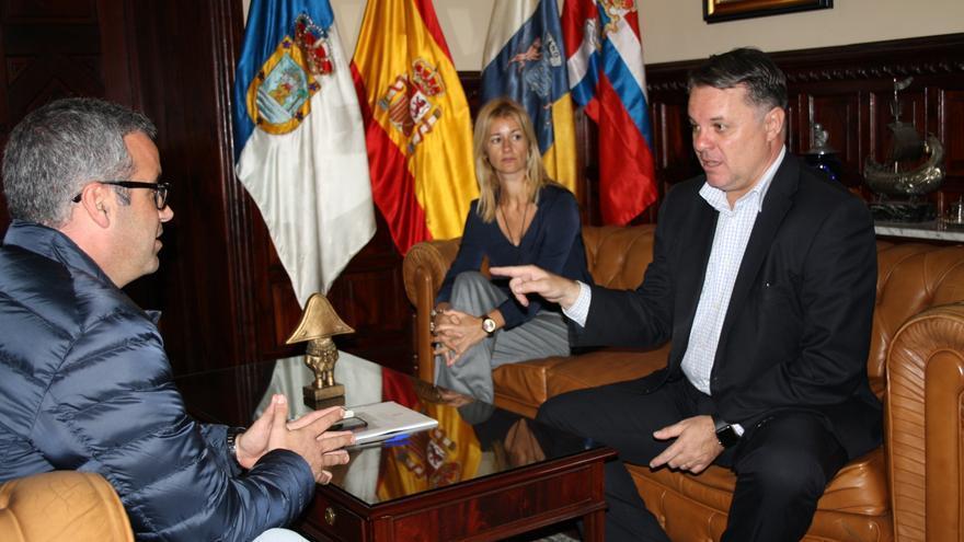 Sergio Matos, Virginia Espinosa y Santiago Negrín.