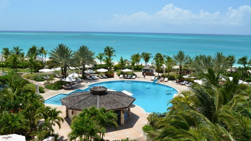 Vista aérea del Seven Stars Resort Turks and Caicos. IMAGEN: GrapevineTxOnline.com