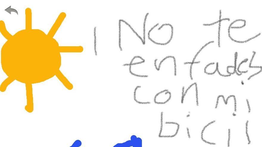 Mi sobrina Sol quiere dedicar este dibujo a los autores del informe de la Cátedra Española de Seguridad Vial y Movilidad