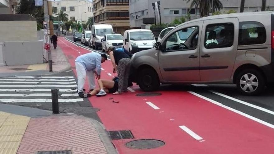 Atropello en el carril bici en Las Palmas de Gran Canaria