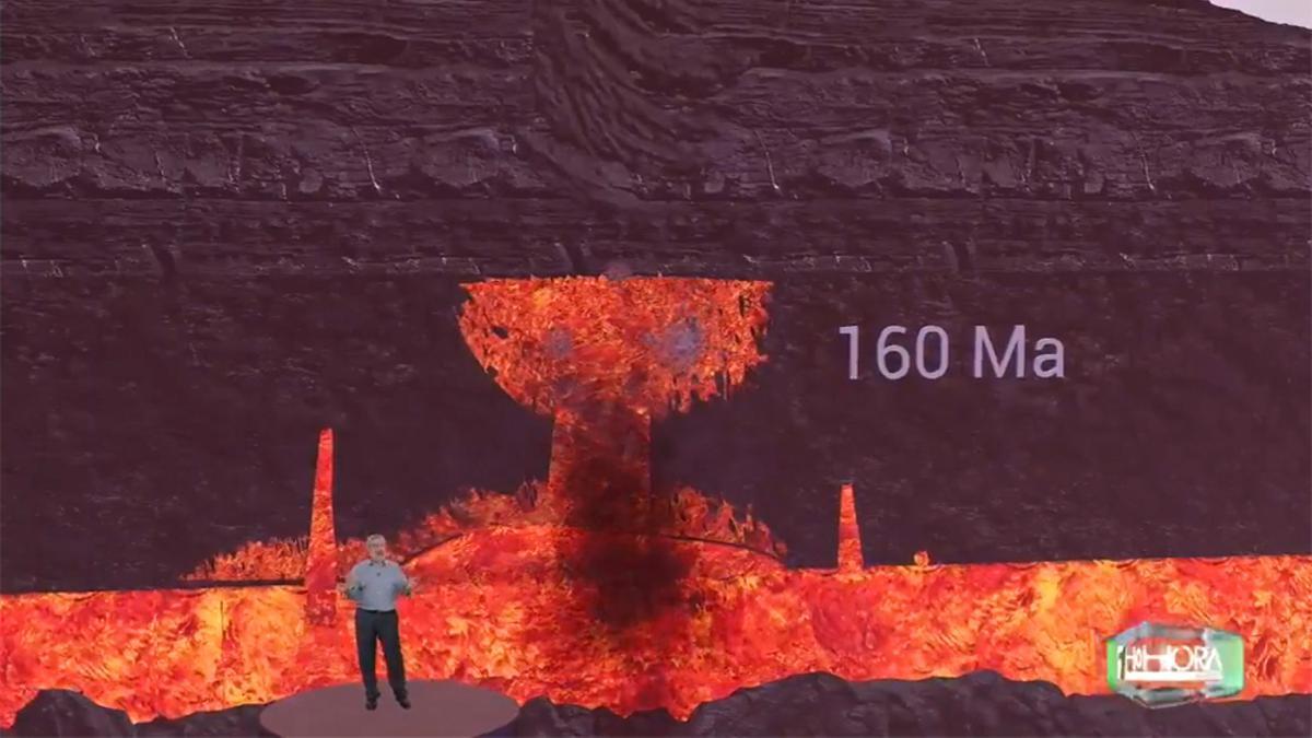 """La TV Canaria, """"desde dentro"""" del volcán en su realidad aumentada"""