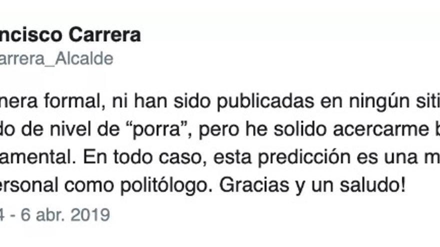 Tuit de Francisco Carrera.