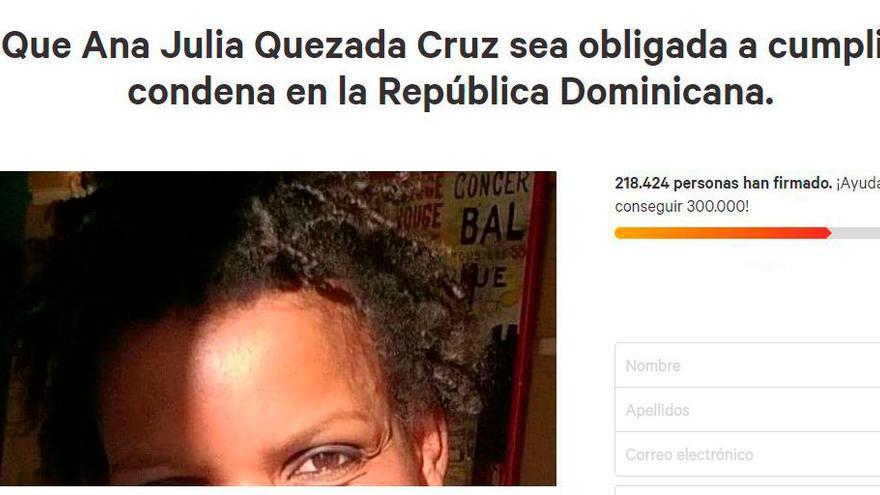 Petición para que Ana Julia cumpla pena en su país natal