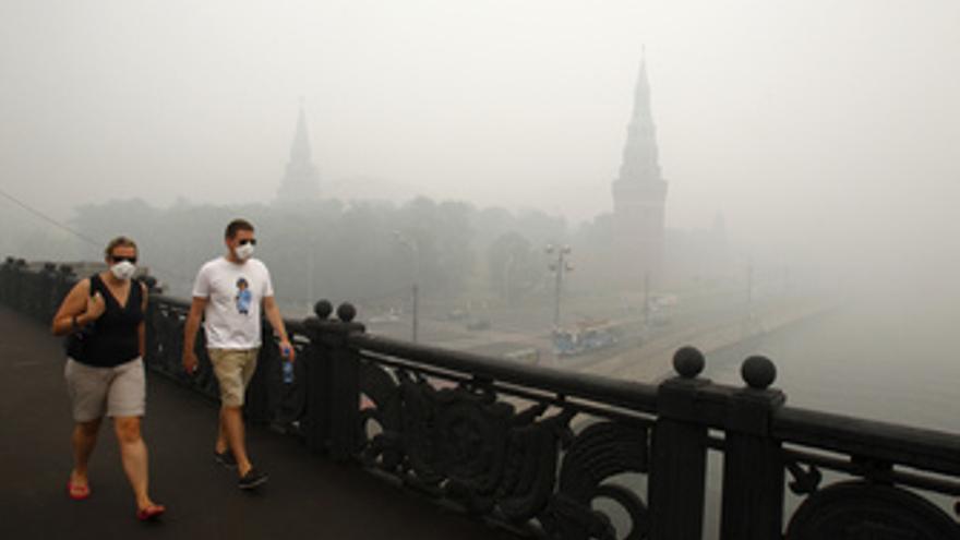 Contaminación por los incendios en Rusia