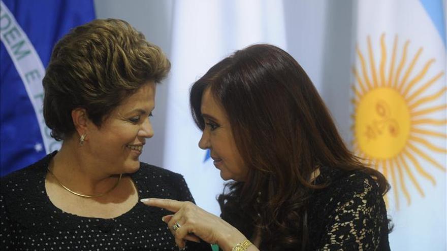 Dilma Rouseff y Cristina Fernández se reunirán en marzo en Argentina