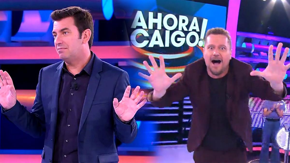 Arturo Valls y El Monaguillo, presentando '¡Ahora caigo!'