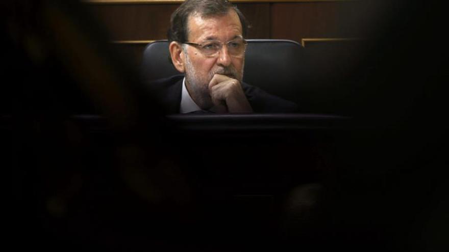 Rajoy en el Congreso de los Diputados. EFE/Juan Carlos Hidalgo
