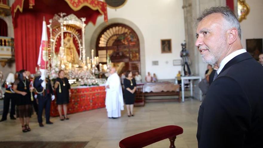 El presidente de Canarias, Ángel Víctor Torres, presidió este jueves los actos religiosos con motivo de la festividad de la Virgen de Candelaria.