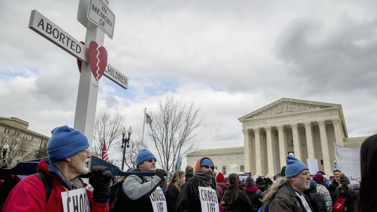 Manifestación antiaborto frente al capitolio en Washington,