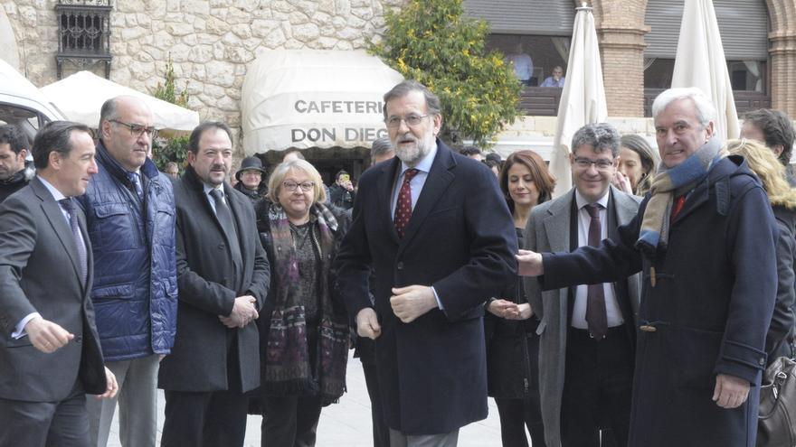 El presidente del Gobierno, Mariano Rajoy, en su visita de este miércoles a Teruel