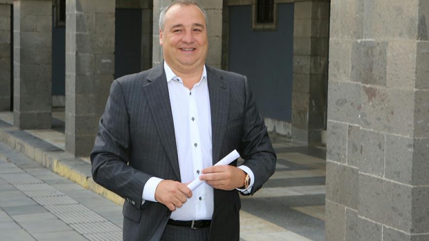 El empresario Miguel Ángel Ramírez a la salida de la Sala de lo Civil y lo Penal del TSJC.