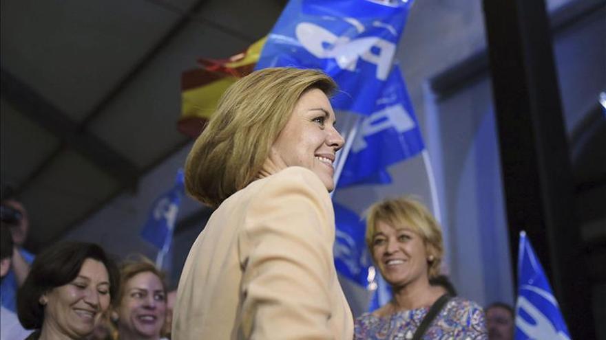 """Cospedal pide ganar """"el futuro de España"""" para no desperdiciar el crecimiento"""