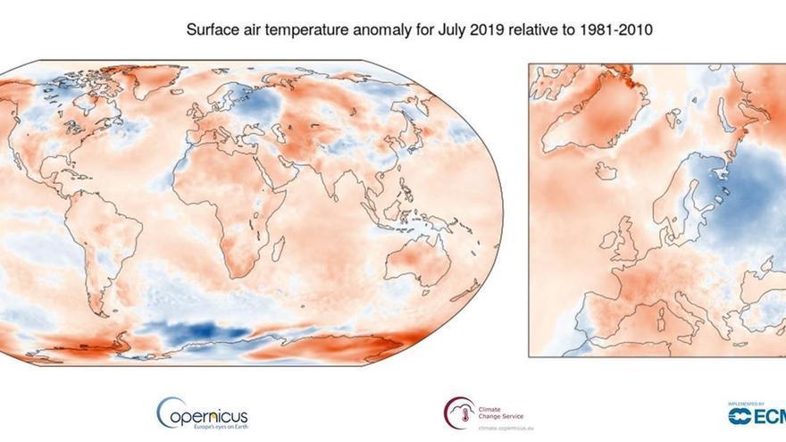 Temperaturas en el mes de julio, el más cálido desde que hay registros