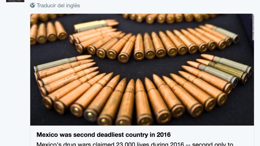 Indignación en México por un informe que lo sitúa como el segundo país más violento del mundo